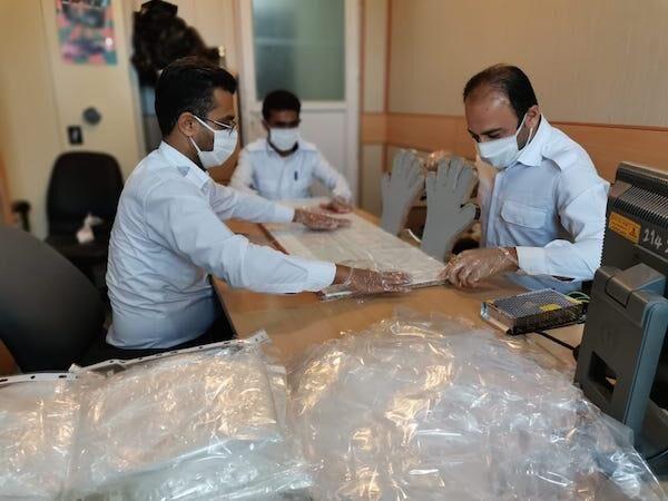 کارگاه تولید دستکش در خارک راهاندازی شد