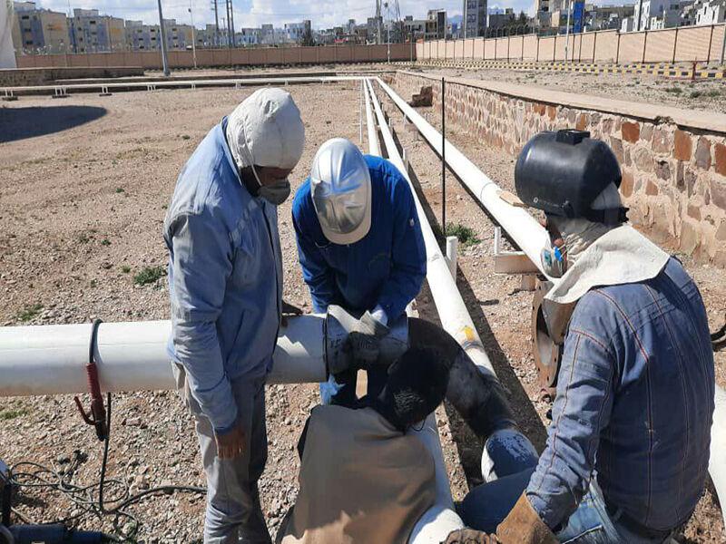 اجرای عملیات تبدیل و جابهجایی فرآورده در مخازن انبار نفت دامغان
