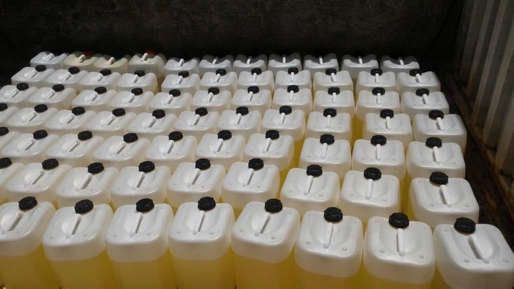 توزیع ۲۰ هزار لیتر آب ژاول میان گروههای جهادی