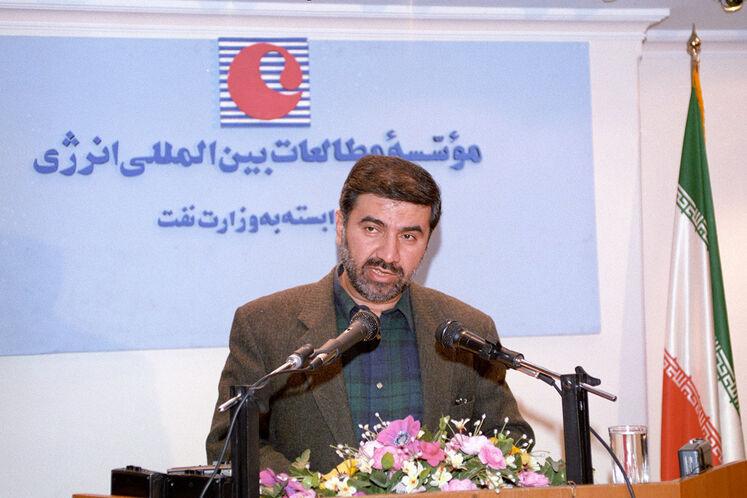 سخنرانی حسین کاظمپور اردبیلی، نماینده متوفی ایران در هیئت عامل اوپک در مؤسسه مطالعات بینالمللی انرژی