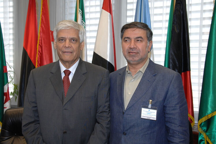 Kazempour and Salim Albadri, former OPEC Secretary General