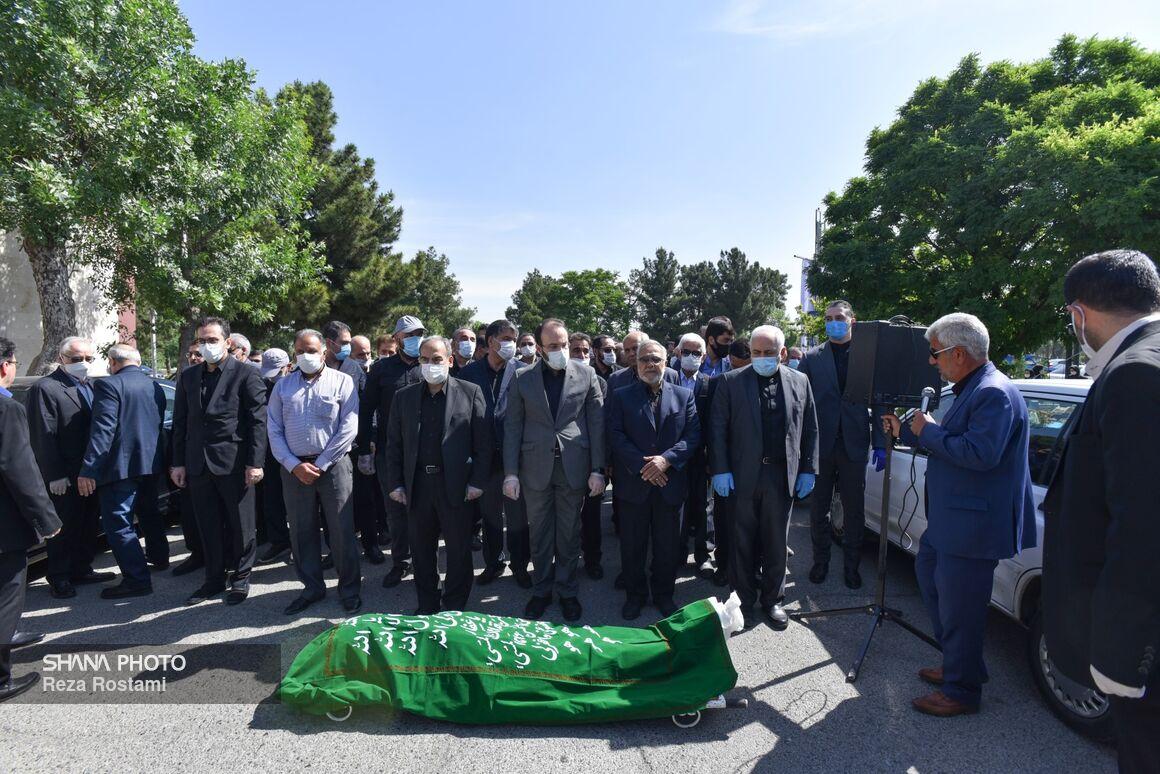 آیین تشییع و خاکسپاری پیکر حسین کاظمپور اردبیلی