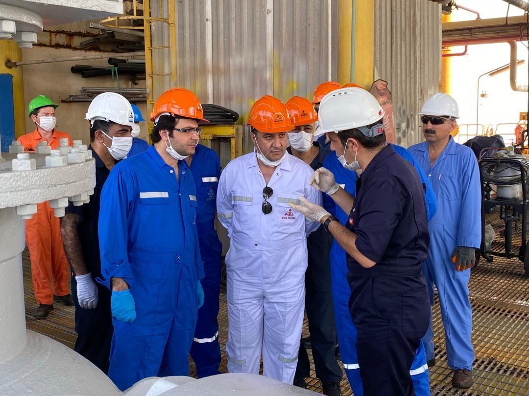 قدردانی کارکنان عملیاتی شرکت نفت فلات قاره از مدیرعامل