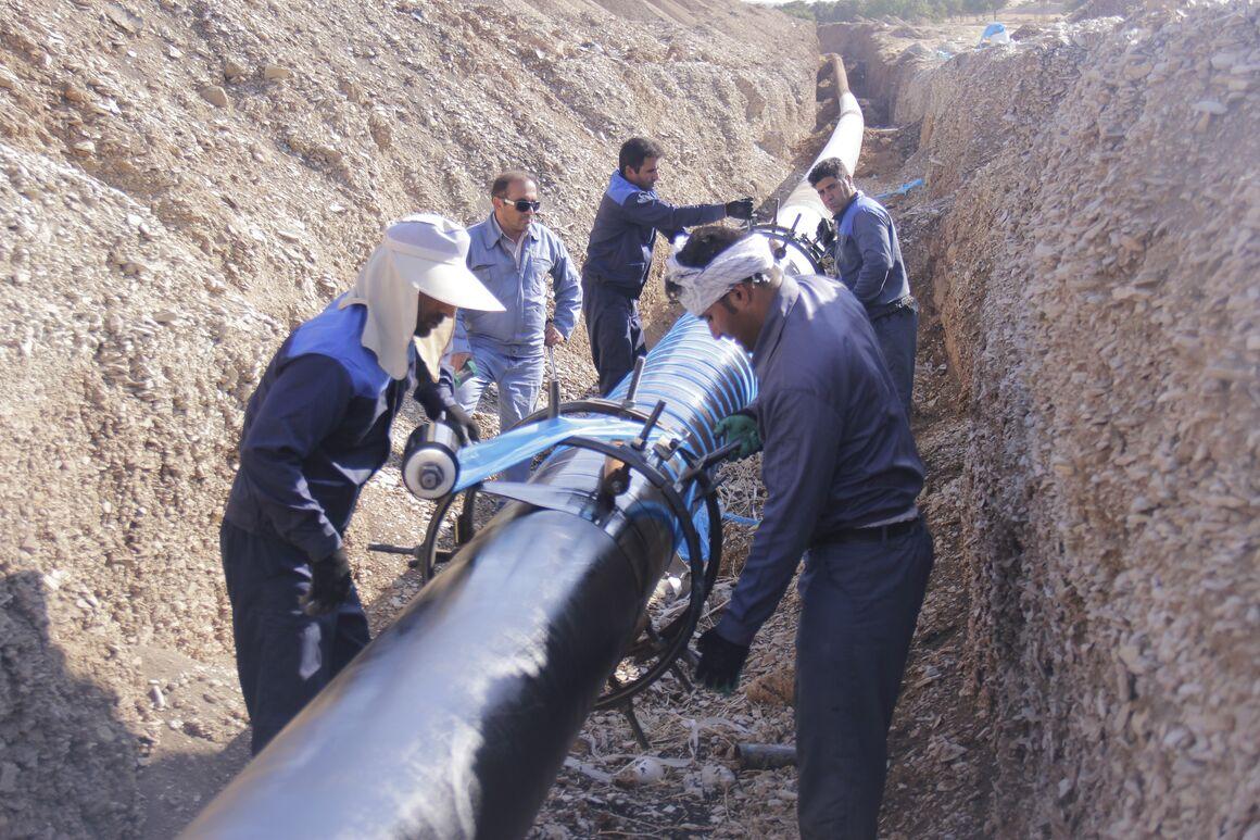 پوشش حدود ۷ کیلومتر از خطوط لوله نفت منطقه لرستان