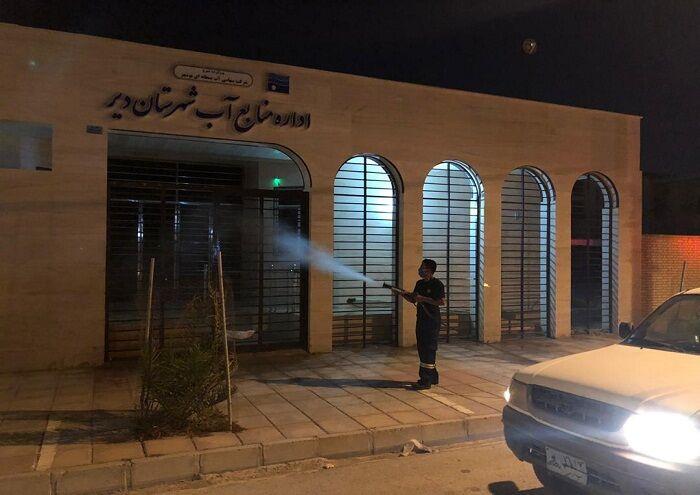 اچاسیی منطقه ویژه پارس، دیّر را ضدعفونی کرد