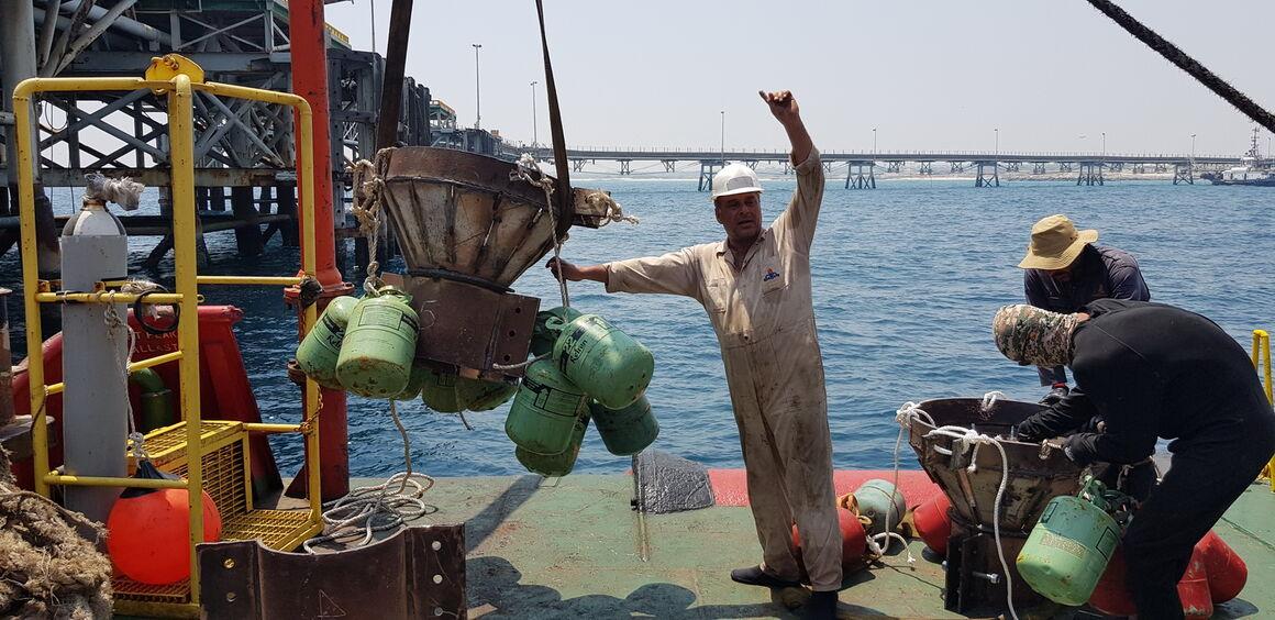 پهلوگیر اسکله نفتی لاوان بازسازی شد