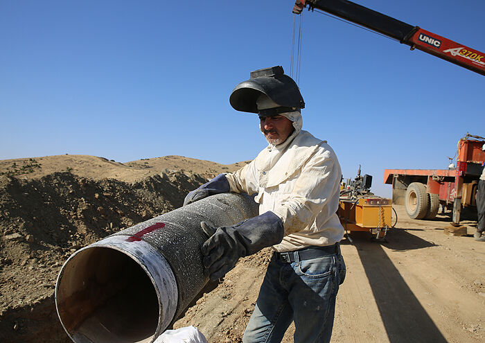 اتصال خط ۲۰ اینچ مجتمع فولاد بوتیای ایرانیان به شبکه انتقال گاز