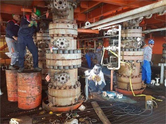 برداشت گاز از سکوی فاز ۲۲ پارس جنوبی ۲۰۰ میلیون فوت مکعب افزایش یافت