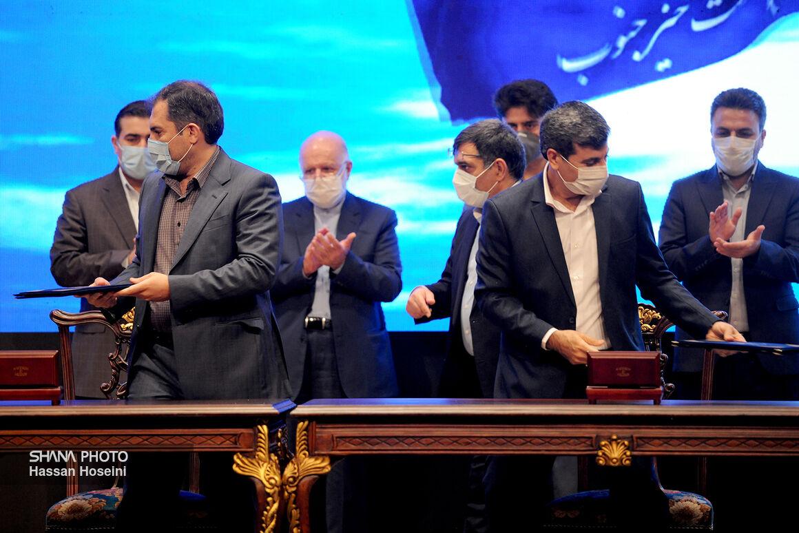 مراسم امضای قراردادهای طرح نگهداشت و افزایش تولید نفت