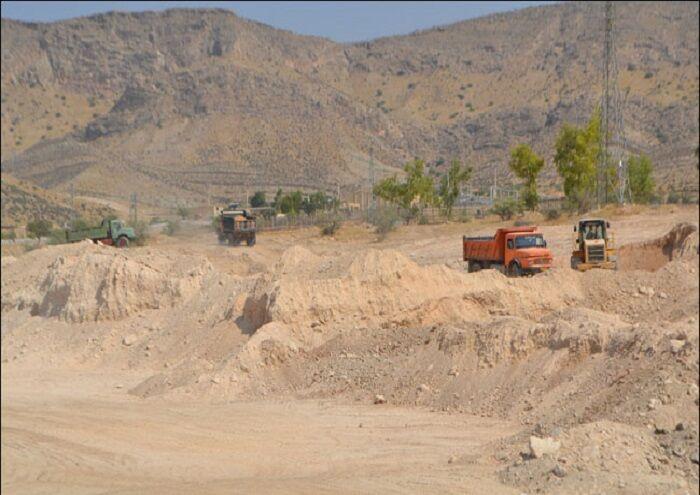 گودال تبخیر در مرکز جمعآوری گاز آغار حفر میشود