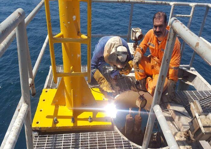 دکل چاهپیمایی سکوی D-۱۶ خارک نصب شد