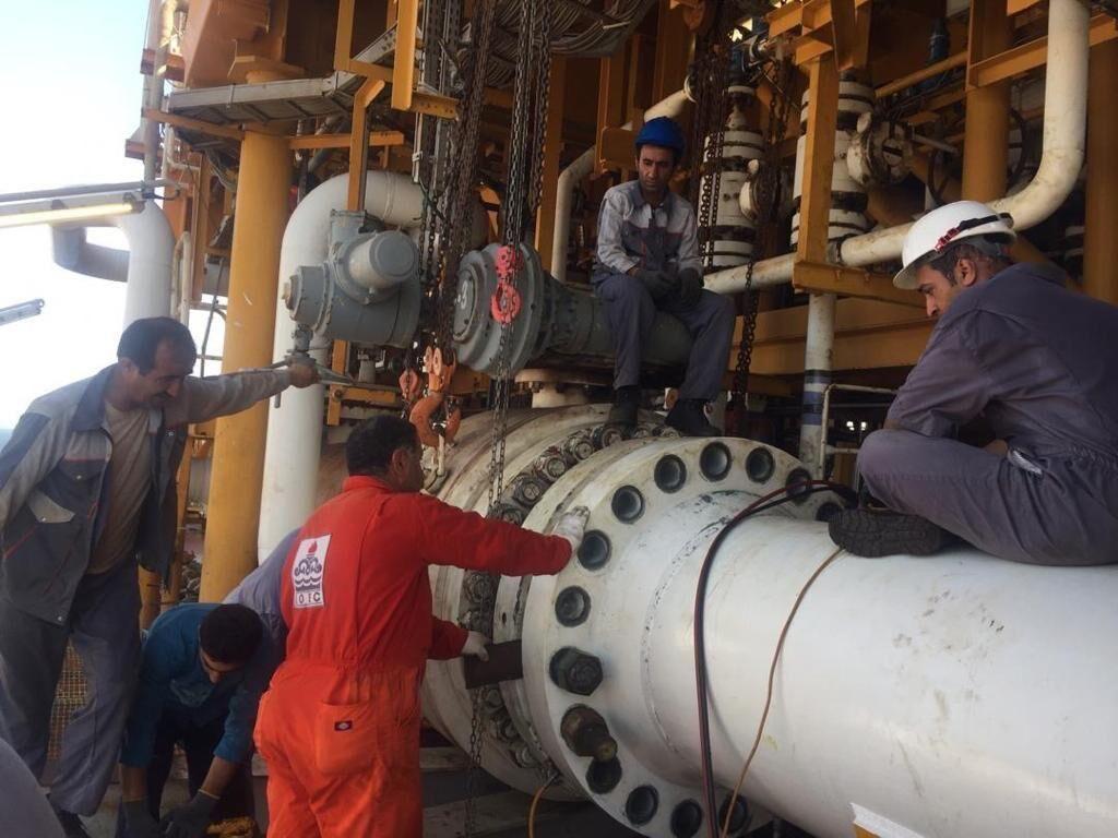 تعمیرات اساسی سکوی هشتم پارس جنوبی پایان یافت