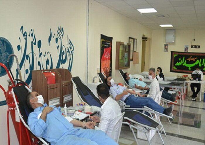 مشارکت کارکنان زاگرس جنوبی در پویش نذر خون