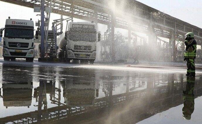 مانور پدافند غیرعامل در تاسیسات انبار نفت ری برگزار شد