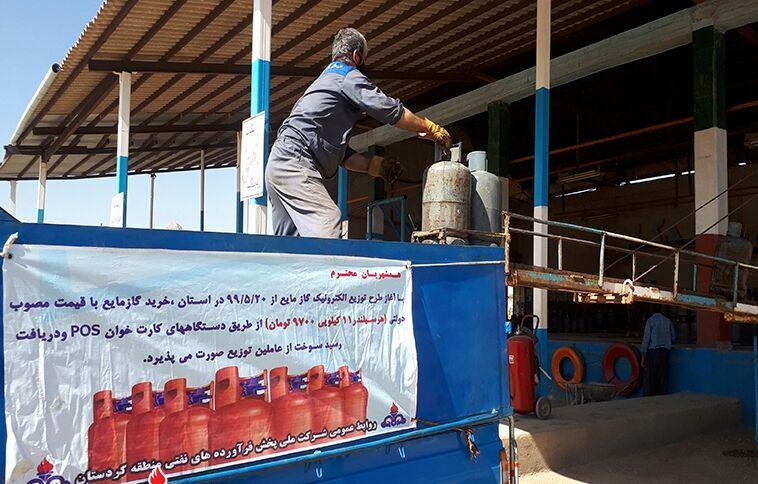 تأمین و توزیع بیش از ۱۵ هزار تن گاز مایع در کردستان