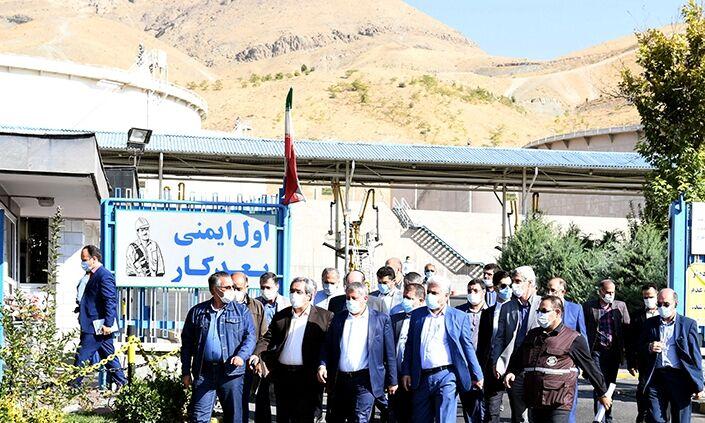 بازدید رئیس شورای شهر تهران از انبار نفت شمالغرب