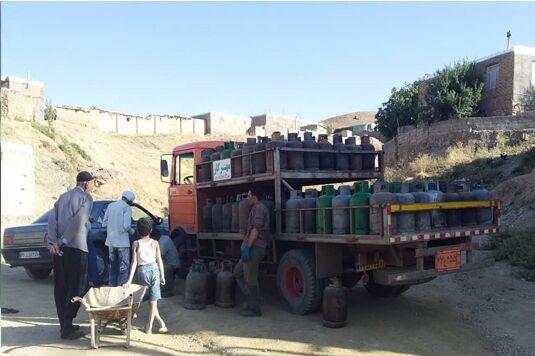 توزیع گاز مایع در روستاهای استان زنجان بهدنبال قطعی گاز