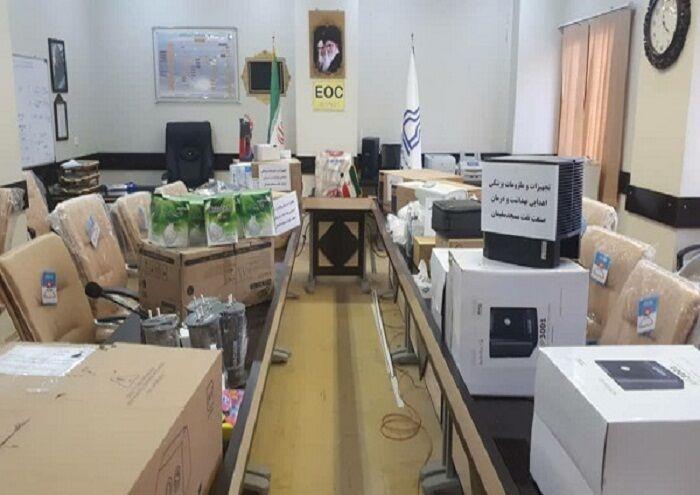 نفت به بیمارستان ۲۲ بهمن مسجدسلیمان تجهیزات پزشکی اهدا کرد