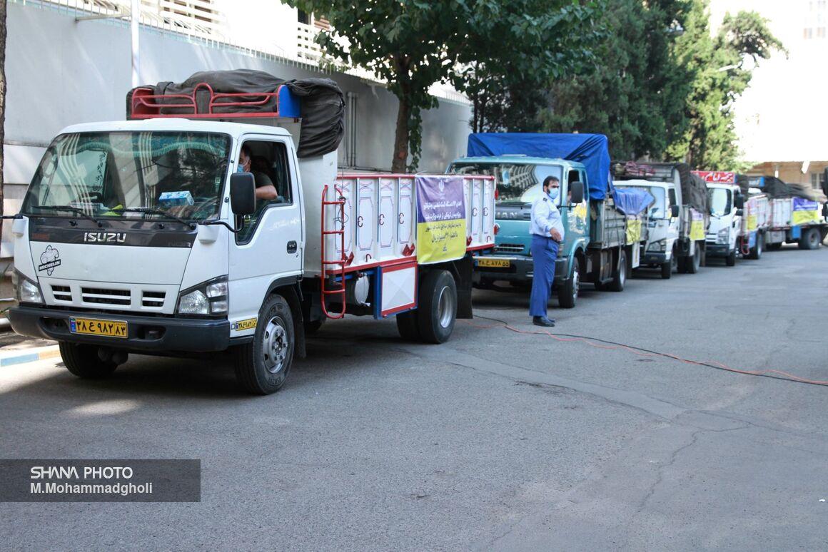 آیین اهدای ۱۴۱ دستگاه ونتیلاتور از سوی وزارت نفت به وزارت بهداشت
