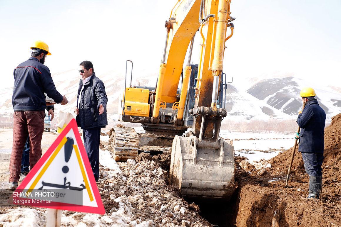 تداوم عملیات گازرسانی به روستاهای مرزی خراسان جنوبی