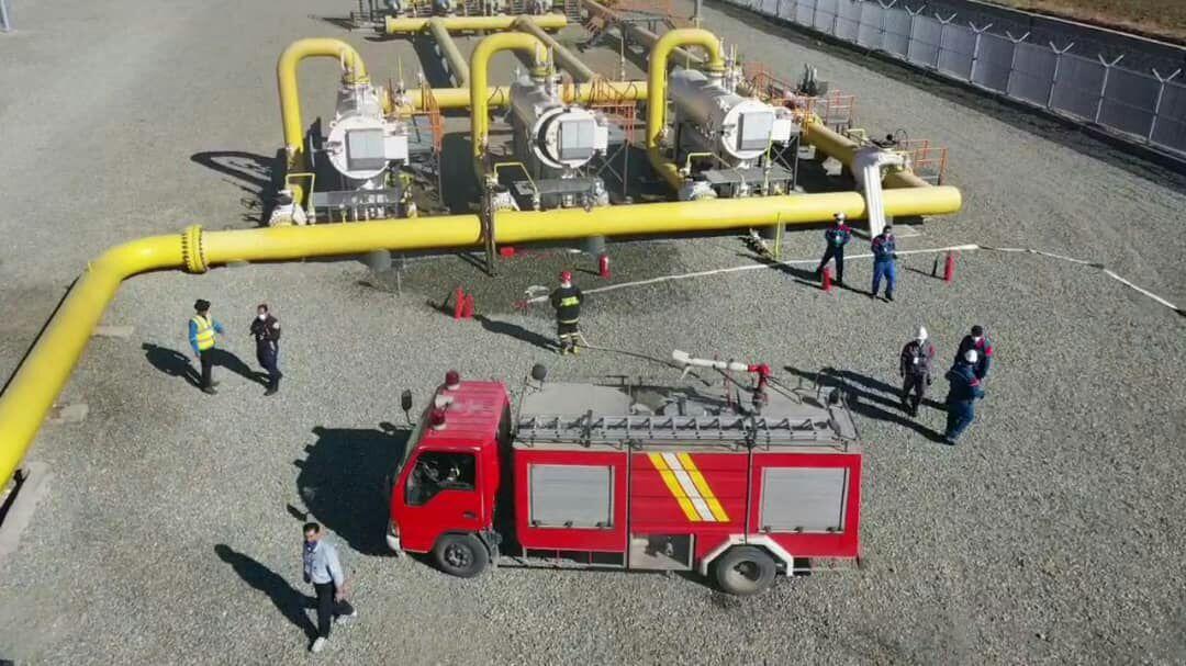 برگزاری رزمایش مدیریت بحران در مرز خطوط ششم و نهم سراسری گاز