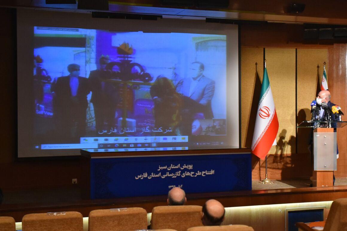 آغاز بهرهبرداری از ۱۸۱ پروژه گازرسانی استان فارس