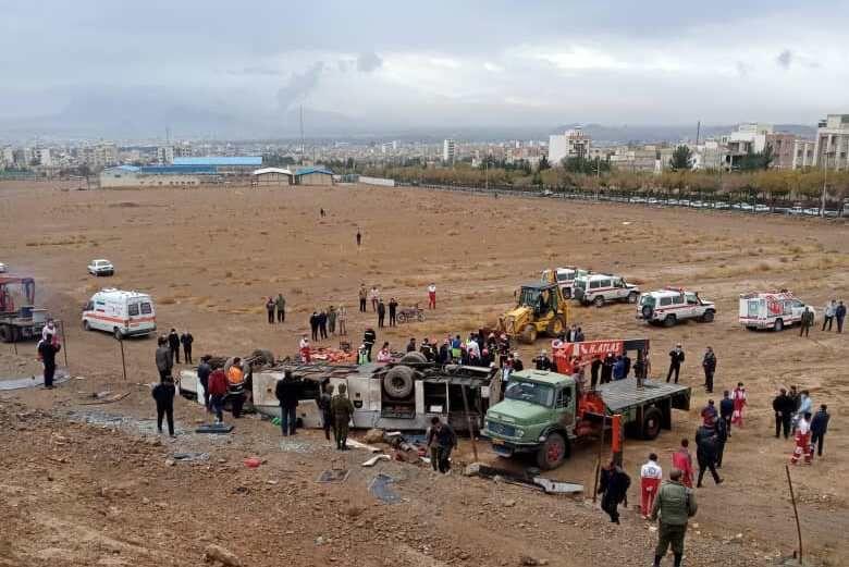 لغزندگی جاده عامل حادثه اتوبوس پالایشگاه اصفهان بوده است
