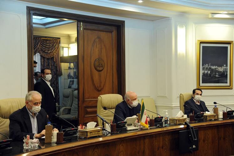 دیدار بیژن زنگنه ،وزیر نفت با هاکوپ وارتانیان، معاون وزیر زیرساختها و مدیریت منطقهای ارمنستان