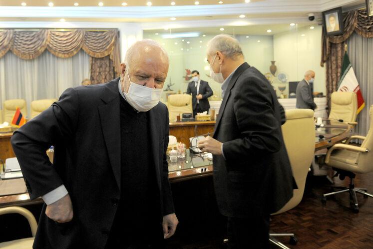 دیدار بیژن زنگنه، وزیر نفت با هاکوپ وارتانیان، معاون وزیر زیرساختها و مدیریت منطقهای ارمنستان