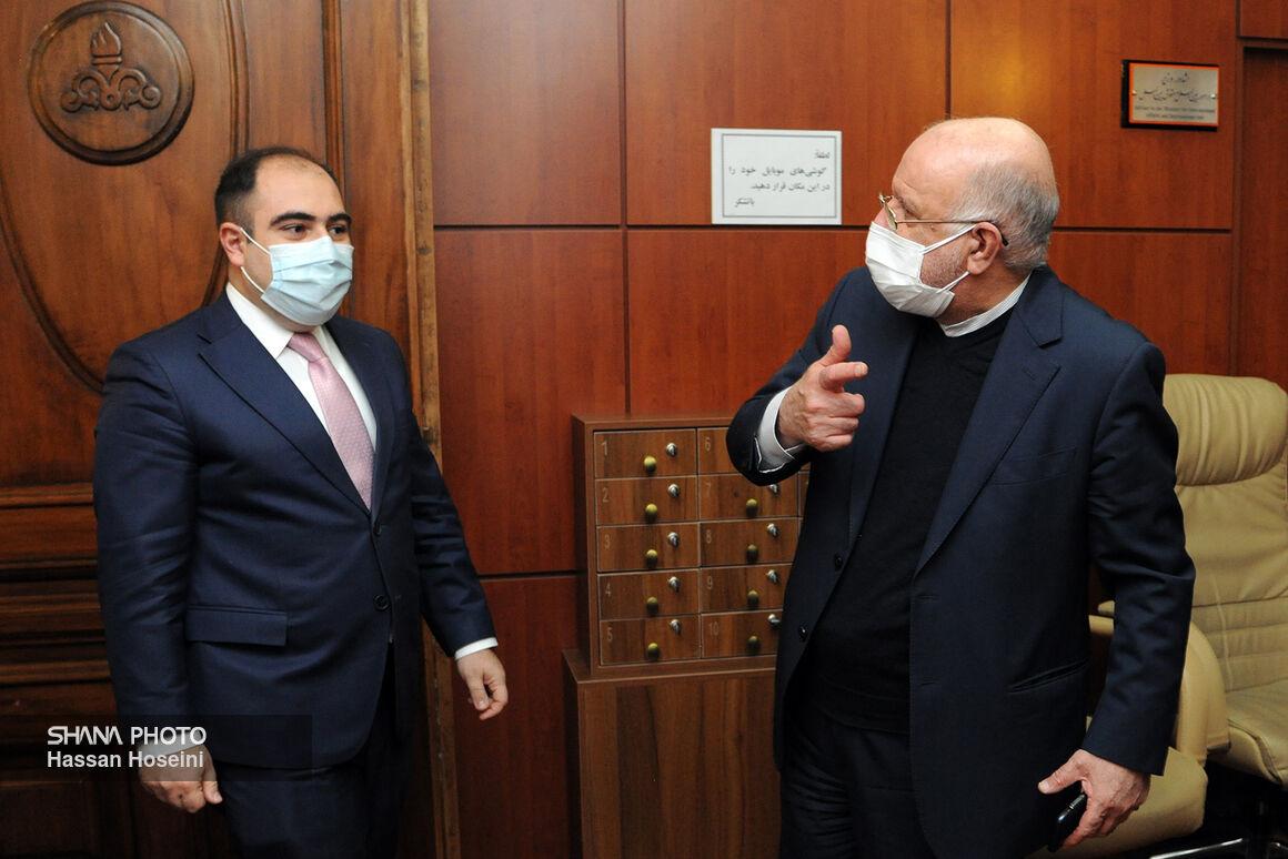 دیدار وزیر نفت با معاون وزیر زیرساختها و مدیریت منطقهای ارمنستان