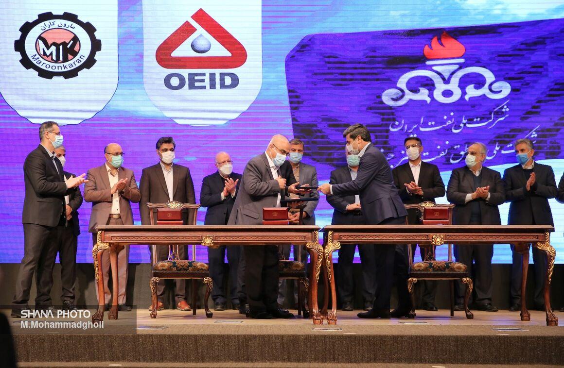 آیین امضای ۸ قرارداد طرح نگهداشت و افزایش تولید نفت