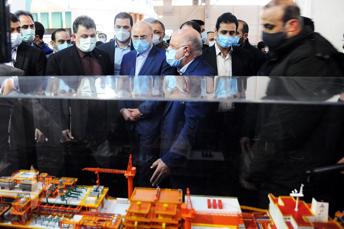 بازدید رئیس مجلس از بیستوپنجمین نمایشگاه نفت