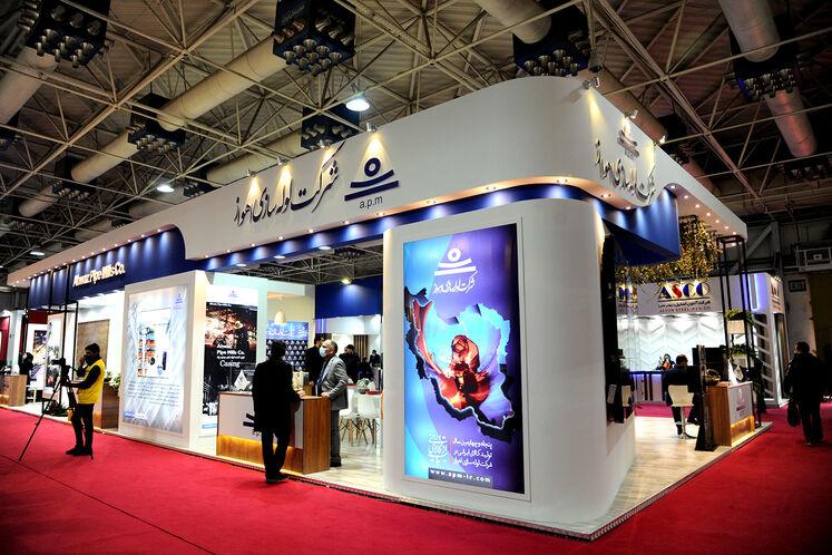 غرفه شرکت لوله سازی اهواز در بیست و پنجمین نمایشگاه بین المللی نفت گاز پالایش و پتروشیمی