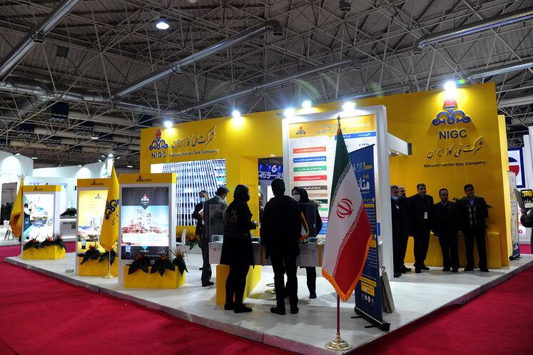 غرفه شرکت ملی گاز در بیست و پنجمین نمایشگاه بین المللی نفت گاز پالایش و پتروشیمی