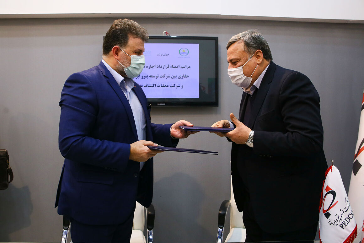قرارداد اجاره ۲ دکل حفاری برای طرح منصورآباد امضا شد