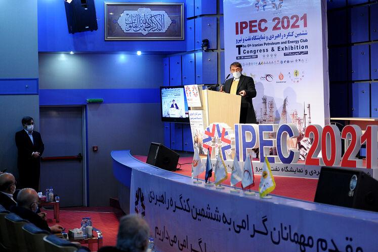 علی آقامحمدی، عضو مجمع تشخیص مصلحت نظام در ششمین کنگره راهبردی و نمایشگاه نفت و نیرو