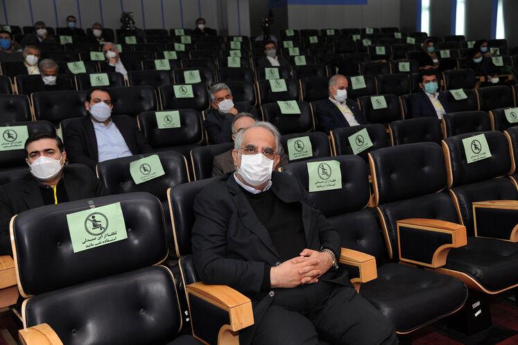 مسعود کرباسیان، مدیرعامل شرکت ملی نفت ایران در ششمین کنگره راهبردی و نمایشگاه نفت و نیرو