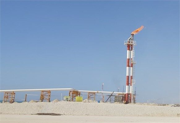 Flarestack of Tombak Export Port On