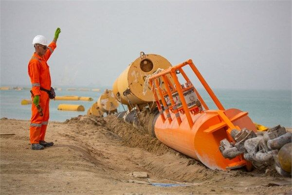 Laying 1st Marine Pipeline of Jask Terminal Complete