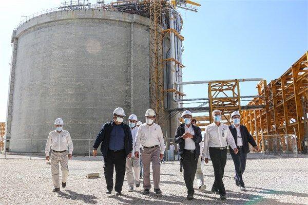 مخازن گاز مایع پالایشگاه فازهای ۲۲ تا ۲۴ پارس جنوبی راهاندازی شد