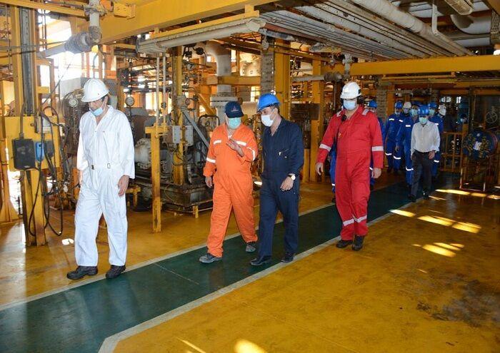 بازدید مدیران سازمانهای نظارتی و رؤسای حراست نفت از لاوان
