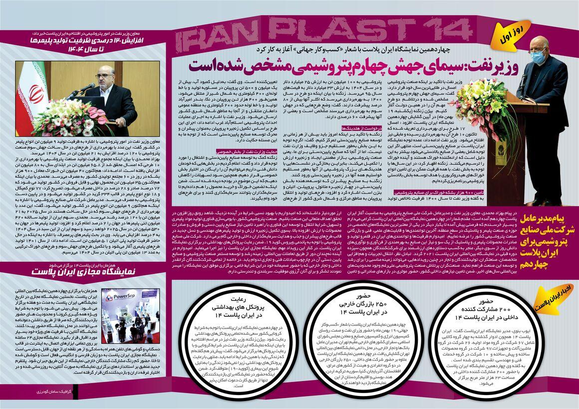 مهمترین رویدادهای روز نخست چهاردهمین نمایشگاه ایران پلاست