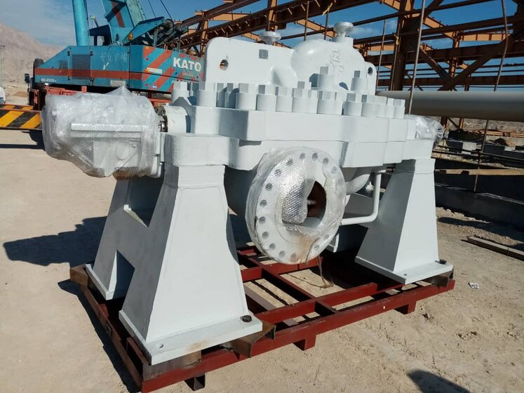1st 3.2 MW Pump of Goreh-Jask Project Delivered