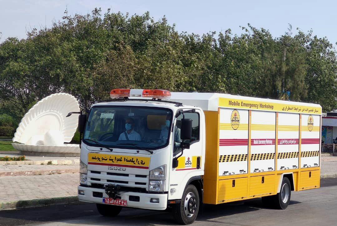 خودروهای بحران شرکت گاز بوشهر رونمایی شد