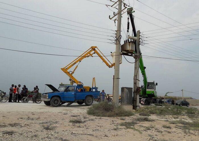 شبکه برق منطقه عملیاتی لاوان ساماندهی شد