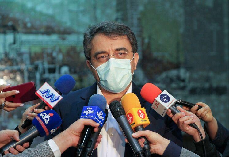 محمود امیننژاد، مدیرعامل شرکت پالایش گاز بیدبلند در جمع خبرنگاران
