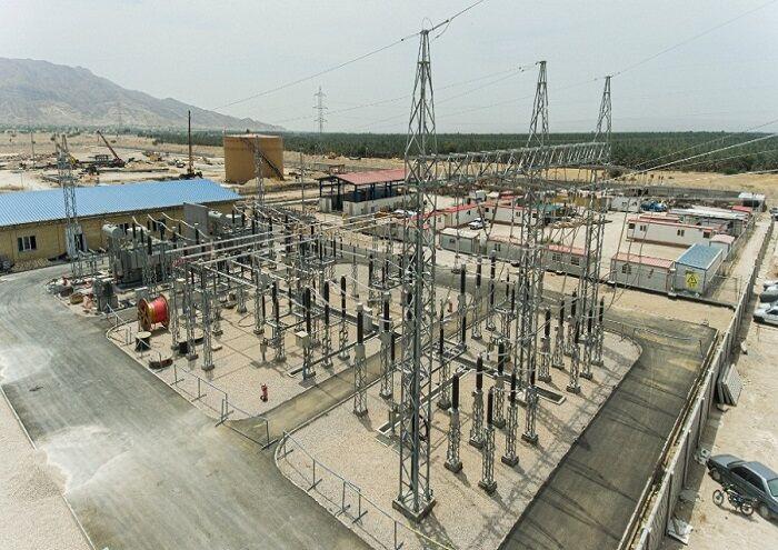 پیشرفت طرح ساخت پست برق خورموج برای طرح گوره - جاسک