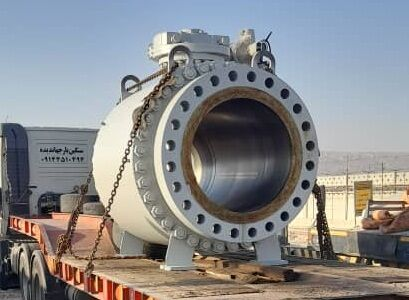 نصب نخستین شیر موتوری ۴۲ اینچ ساخت ایران در طرح گوره - جاسک