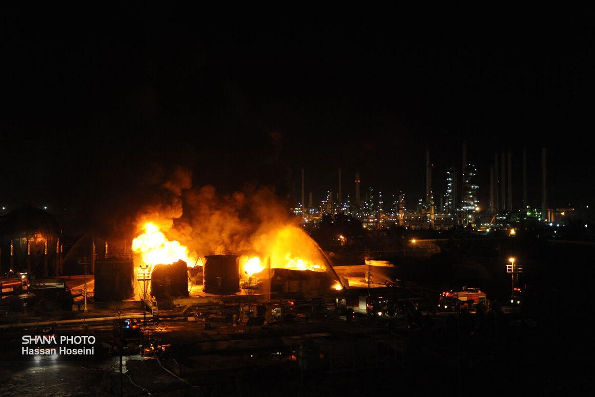 آتشسوزی مخازن ضایعات نفتی پالایشگاه تهران