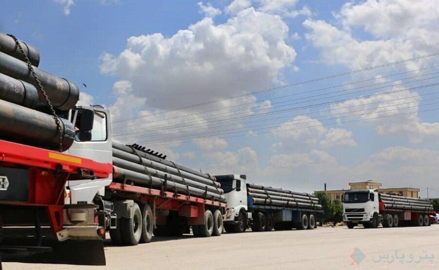 آغاز انتقال لولههای جداری میدان نفتی فروزان